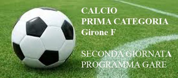 CALCIO PRIMA CATEGORIA PROGRAMMA GARE 2