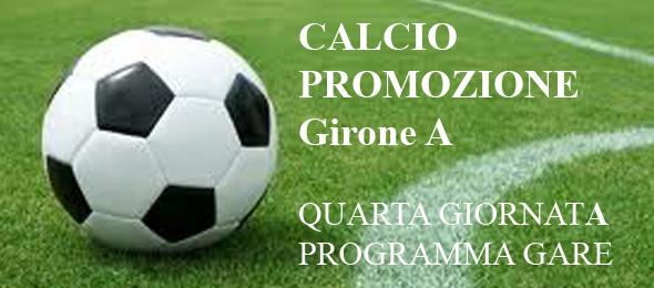 CALCIO PROMOZIONE PROGRAMMA GARE 4