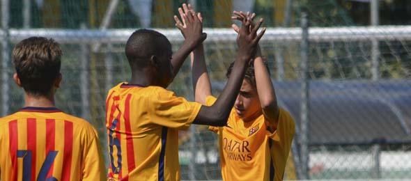 MEMORIAL VARANI Barcellona esultanza gol